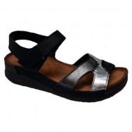 Sandale cu talpa joasa,nuanat de argintiu