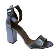 Sandale cu toc argintiu