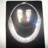 Seturi de bijuterii, din cristale argintii