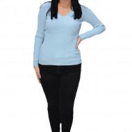 Bluza casual Kimmy,model simplu si decolteu in V,nuanta de albastru deschis