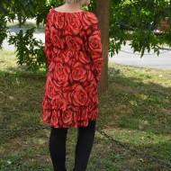 Bluza din voal creponat, cu imprimeu floral
