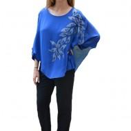 Bluza eleganta cu aplicatii deosebite Dakota,nuanta de albastru