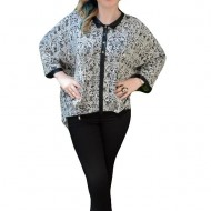Bluza fashion, deosebita, nuanta de gri, cu croi asimetric