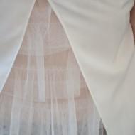 Bluze cu maneca scurte, casual, in nuante albe-rosii