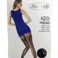 Ciorap dama cu model deosebit ,densitate 20 DEN,negru