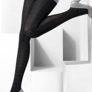 Ciorapi cu model elegant cu dungi 40 DEN