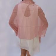 Esarfa fashion de culoare roz,turcoaz din material fin, lucios