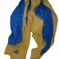 Esarfa rafinata , bicolora plisata