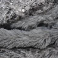 Fular Eve circular din tricot cu insertii de paiete si blanita ,nuanta de gri