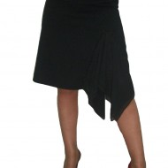 Fusta chic, disponibila in nuanta de negru, design modern