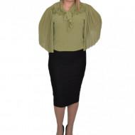 Fusta dama conica cu insertii de strasuri ,nuanta de negru
