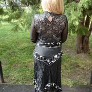 Fusta rafinata, de primavara-vara, culoare negru-alb