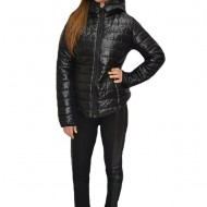 Jacheta moderna, simpla, din fas, in nuanta negru