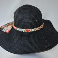 Palarie clasica de vara, model casual-elegant, cu material colorat