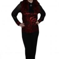 Pantalon femei, negru, talie inalta si inchidere cu fermoar