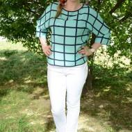 Pantalon modern de primavara-vara, masura mare, nuanta alba