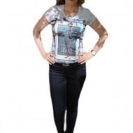 Pantalon tineresc de primavara-vara, bleumarin, model lung