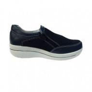 Pantof casual din piele naturala de culoare bleumarin