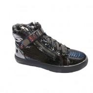 Pantof confortabil de zi, model sport, talpa joasa, nuanta neagra