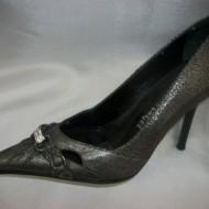 Pantof de gala, nuanta de gri, toc subtire rafinat