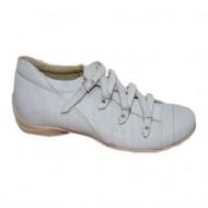 Pantof din piele naturala, nuanta de gri, baretute subtiri