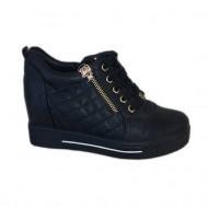Pantof sport bleumarin cu platforma ascunsa, siret reglabil, fermoar