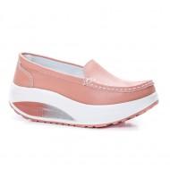 Pantofi dama Avelia sport cu talpa ortopedica,nuanta de pudra