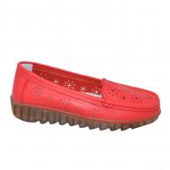 Pantofi perforati cu model si talpa deosebita,rosu