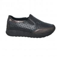 Pantofi sport dama ,negrii cu perforatii si talpa grosa