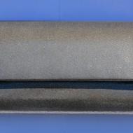 Poseta de gala din material fin cu aspect lucios, argintie