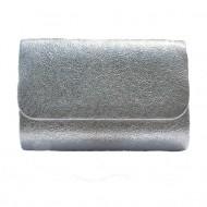Poseta plic pentru ocazii, culoare argintie,gri ,negru, material sclipicios