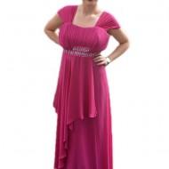 Rochie aparte, de seara, disponibila in serie mare, pe nuanta de roz