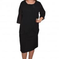 Rochie de ocazie neagra cu strasuri fine in fata