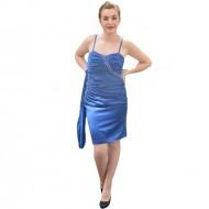 Rochie de seara foarte eleganta, cu garnituri de pietre, pe albastru
