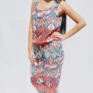 Salopeta feminina,lejera de vara,cu nuante tineresti multicolore