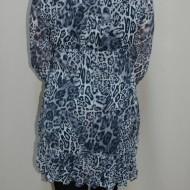 Bluza lejera, nuanta de gri, imprimeu animal-print in tendinte