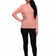 Bluza moderna din tesatura usor elastica, nuanta de piersica