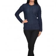 Bluza rafinata cu model ,realizata cu tricot nuanta bleumarin