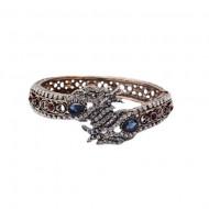 Bratara eleganta cu motive mitologice,nuanta bleumarin