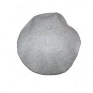Caciula rafinata cu inserti arginti, nuanta de gri