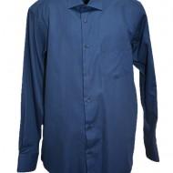 Camasa bleumarin cu maneca lunga si design in tesatura