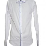 Camasa deosebita pentru barbati in nuanta de alb cu nasturi fine