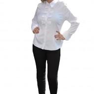 Camasi cu maneca lunga, cu patru fundite, de culoare albe
