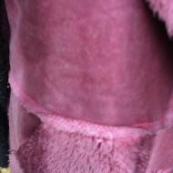 Cardigan tip vesta in nuanta de plamaniu, realizata din blanita