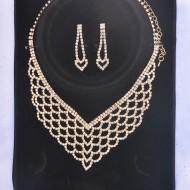 Colier simplu, nuanta auriu, argintiu, lantisor cu design aparte