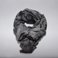 Esarfa eleganta din material fin cu aspect transparent cu imprimeu gri