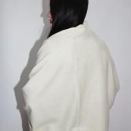 Esarfa fancy toamna-iarna ,nuanta alb