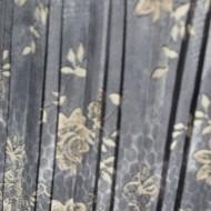 Fusta de lungime medie cu imprimeu floral, culoare gri