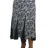 Fusta eleganta, de efect, disponibila in nuante de negru cu alb