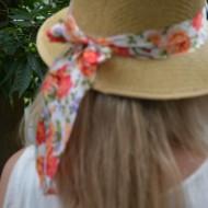 Palarie trendy de vara, design ajurat, panglica cu aspect de funda